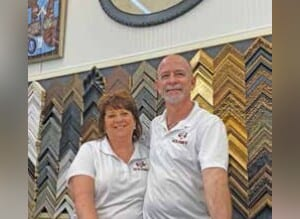 Jill and Giovanni Vianello, owners of Let Us Frame It on Edgewater Drive, are grateful for the community support they have received from College Park residents. JORDAN ELLIS