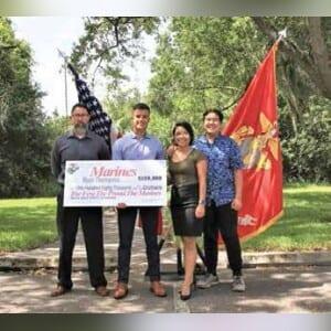 Ryan Thompson receives a full ROTC scholarship.
