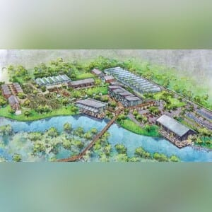 A rendering of the 100-acre Packing District development for The 4Roots Farm Campus. COURTESY OF THE CITY OF ORLANDO