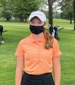 Senior Jacque O'Neill was the medalist during the Grayling Invitational with a low score of 80.